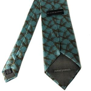 100% Silk Men's Tie Jhanes Barnes Made In Italy OS